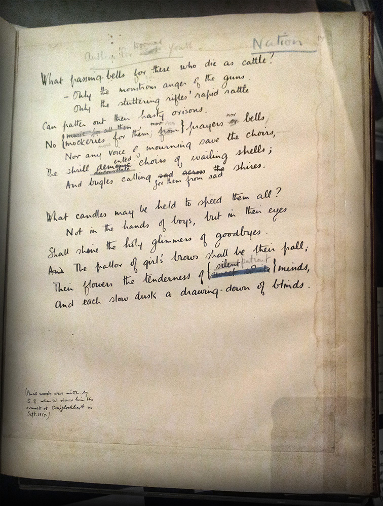 wilfred owen anthem for doomed youth essay conclusion Anthem for doomed youth is a war poem owen wrote whilst recovering from   wilfred owen wrote several drafts of this sonnet before finally choosing this   dusk a drawing-down - to conclude this memorable comparison.